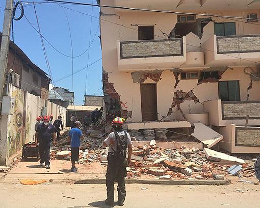 Devastating Earthquake Damage in Ecuador